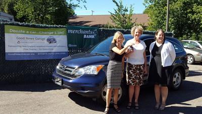 Anita Bourgeois, SVP at Merchants Bank; Amy Barcomb, Marketing Coordinator at Good News Garage and Erika Baldasaro, VP at Merchants Bank