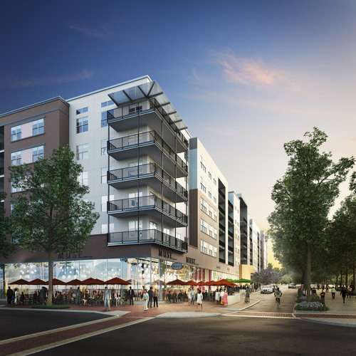 Peterson Companies and The Bozzuto Group break ground on The Esplanade, National Harbor's first apartment development.  (PRNewsFoto/The Bozzuto Group)