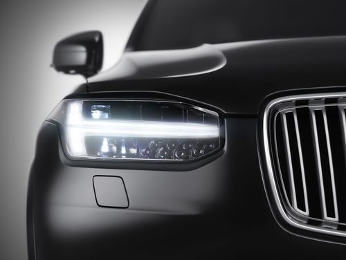XC90 Front view: Volvo XC90 Front view - Front view of the all-new XC90, including the distinctive new T-shaped running lights. (PRNewsFoto/Volvo Car Corporation)