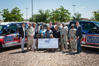 USO staff and service members receive $25,000 donation and custom wrapped vehicles from Casa Ford Lincoln. Photo by Armando Martinez Photography