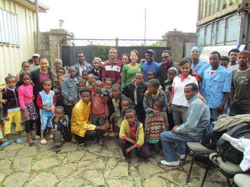 Shumake and Friends Legacy Academy Launches in Addis Ababa Orphanage Learning Center.  (PRNewsFoto/Robert S. ...