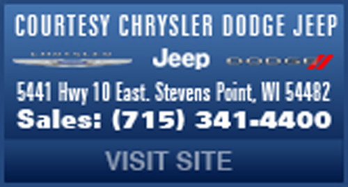 Courtesy Motors is your local Chrysler Dodge Jeep dealer in Stevens Point, WI.  (PRNewsFoto/Courtesy Motors)