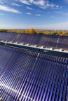 Skyline Innovations has installed solar thermal systems on a number of buildings in the Baltimore-Washington area. This 174 units system at American University provides hot showers to over 2,000 students living on campus and hot water to the university's largest dining hall.  (PRNewsFoto/Skyline Innovations)