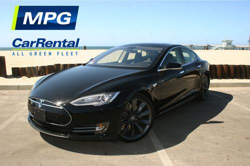 Tesla Model S MPG Car Rental. (PRNewsFoto/MPG Car Rental) (PRNewsFoto/MPG CAR RENTAL)