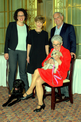Lia Schwartz and Pauly, from left to right, Jane Fraser, Holly Clark and Georgie, and Alan Rabinowitz.
