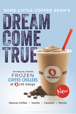Red Mango introduces Frozen Coffee Chillers.  (PRNewsFoto/Red Mango)