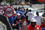 As pictured in this 2009 rally photo, the American Federation of Government Employees led the fight against the Department of Defense's National Security Personnel System, a failed attempt by the Bush administration to overhaul workforce policies for civilian employees. AFGE says a new reform proposal from the Pentagon repeats many of the same failed policies.