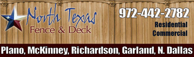 North Texas Fence and Deck Plano, McKinney, Richardson, Garland, Rockwall, Murphy, Allen, Rowlett and Wylie, TX. Most wood fence, deck and railing products require ongoing painting or staining and can rot or warp when exposed to inclement weather. Consider a deck with made from low maintenance composite and a vinyl fence for years of beauty and enjoyment without constant painting and staining required of wood.  (PRNewsFoto/North Texas Fence and Deck)