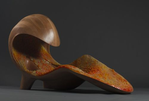 Gemini Acoustic Chaise designed by Professors Neri Oxman and W. Craig Carter, inner lining produced on Objet500 Connex3 Color Multi-material 3D Printer by Stratasys (PRNewsFoto/Stratasys)