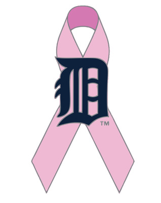 Special Detroit Tigers pink pins will be available for purchase for $12 at all Comerica Park retail locations starting with the Sept. 13 Pink Out the Park game and continuing throughout the rest of the season, while supplies last. A portion of the proceeds will benefit breast cancer research at the Barbara Ann Karmanos Cancer Institute. Visit www.tigers.com for tickets and www.karmanos.org for information on cancer services.  (PRNewsFoto/Karmanos Cancer Institute)