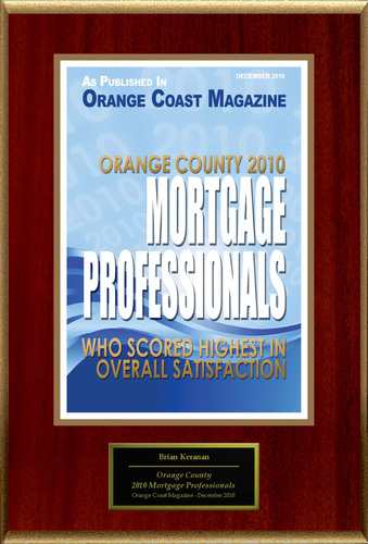 "Brian Keranen Selected For ""Orange County 2010 Mortgage Professionals"".  (PRNewsFoto/American Registry)"