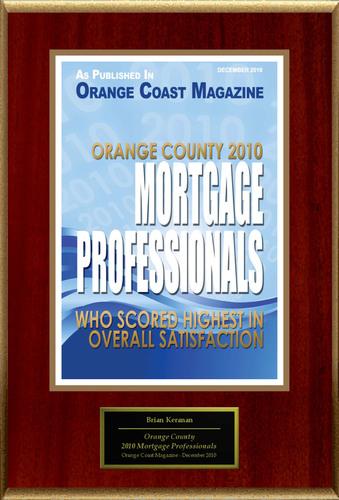 Brian Keranen Selected For 'Orange County 2010 Mortgage Professionals'