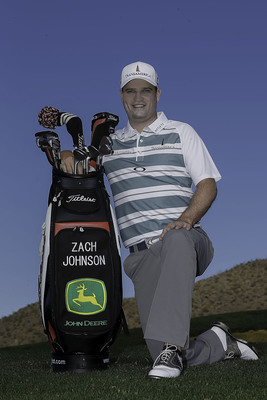 John Deere announced today it has become a corporate sponsor for professional golfer Zach Johnson, the seventh-ranked player in the world. (PRNewsFoto/Deere & Company, Sam Greenwood/Getty Images)