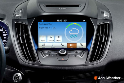 AccuWeather MinuteCast via AppLink in Ford's New SYNC 3 In-Car System
