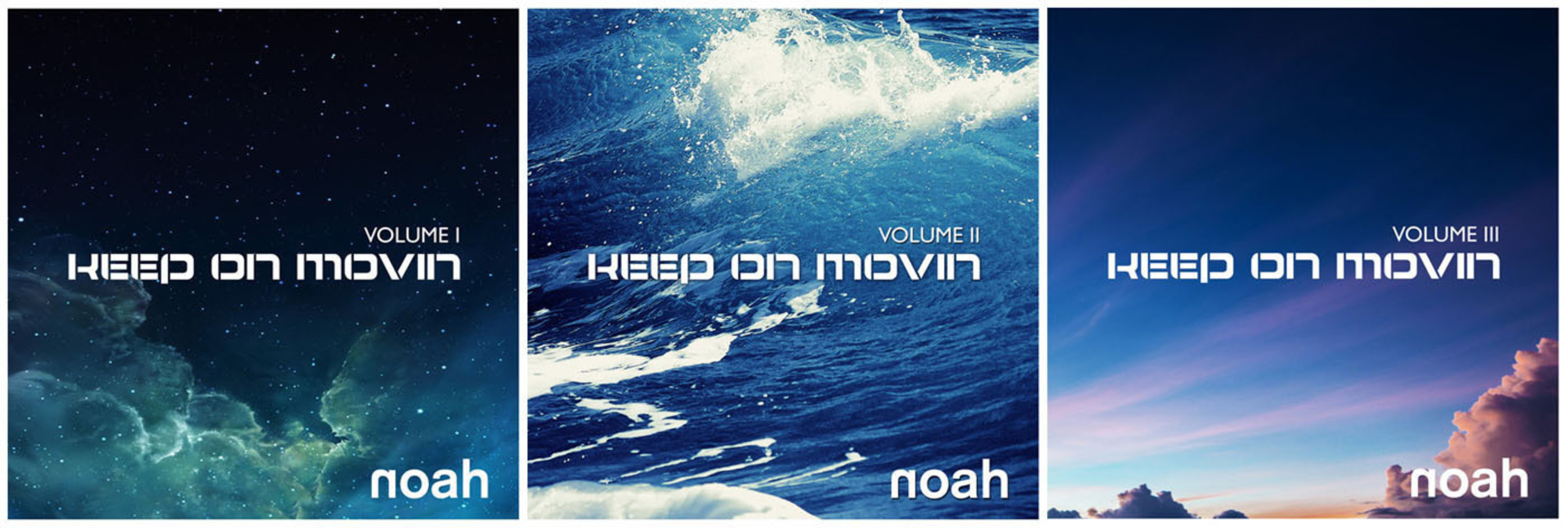 NOAH's Keep On Movin' Vol I - Vol III.  (PRNewsFoto/NOAH)
