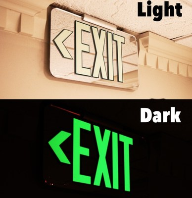 Kroger enlisted fellow member of the Cincinnati USA Regional Chamber, MN8(R), developer of photoluminescent safety products, to install its LumAware(R) energy-free exit signs at all new and renovated Kroger stores nationwide.
