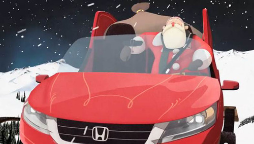 Santa's New Sleigh Saves Christmas in Honda's New Holiday Campaign.  (PRNewsFoto/American Honda Motor ...