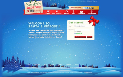 """Conde Nast Launches """"Santa's Hideout"""" - a Free Digital Gift-Giving Service"""
