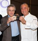 Robert De Niro and Chef Nobu toast the Opening of the Nobu Hotel Caesars Palace.  (PRNewsFoto/Nobu Hotel Caesars Palace)