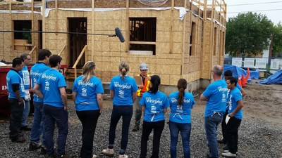 Whirlpool Corporation renews partnership with Habitat for Humanity to build houses and provide a range and refrigerator for every new Habitat home built in the United States.