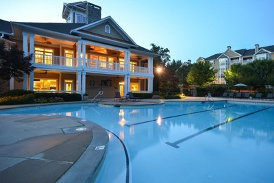 Virginia Beach developer, Hercules Living announces the purchase of two multifamily apartment communities in Metro Atlanta. Pictured is one of the properties' clubhouse at Dakota Mill Creek in Duluth, GA.