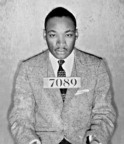 Eastern State Penitentiary celebrates Dr. Martin Luther King, Jr.'s birthday, and the 50th anniversary of his 1963 Letter from Birmingham Jail, with special readings offered several times throughout the weekend. Photo: Dr. Martin Luther King Jr.'s mug shot from his arrest during the Montgomery bus boycott.  Montgomery County Sheriff's Department, Alabama, 1956.  (PRNewsFoto/Eastern State Penitentiary)