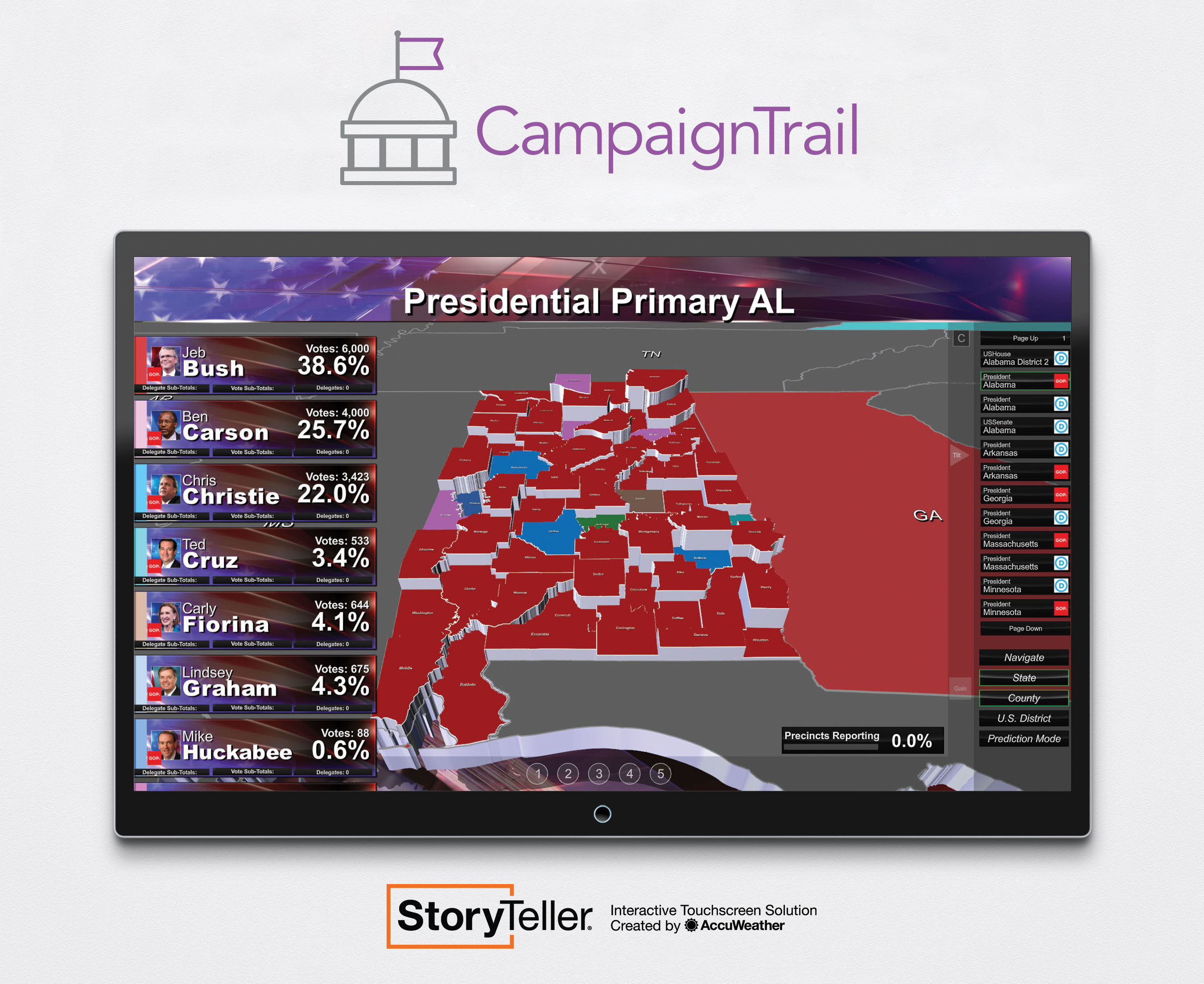New StoryTeller CampaignTrail by AccuWeather
