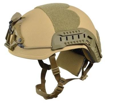 Ultra leichter Helm fur Spezialkräfte. Extrem hoher Schutz, welcher bei kompletter Konfiguration fur Spezialkräfte (inkl. Inlay, Rails, NVG Aufnahme etc.) lediglich 1,1, kg wiegt. Eine der populärsten Helme innerhalb der CT- und Spezialeinheiten weltweit. (PRNewsFoto/ArmorSource LLC.)