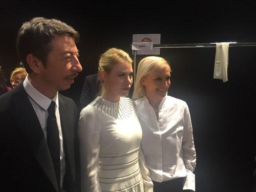 Barbara Berlusconi, CEO of AC Milan, guest at Valentino Fashion Show in Paris with the stylists Grazia Chiuri e Pierpaolo Piccioli. (PRNewsFoto/A.C. Milan Spa) (PRNewsFoto/A.C. Milan Spa)
