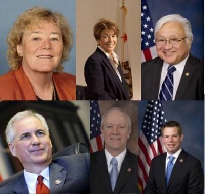 Congresswoman Zoe Lofgren, Representatives Anna Eshoo, Mike Honda, Tom McClintock, Jerry McNerney, and Eric Swalwell