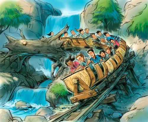 Seven Dwarfs Mine Train at Walt Disney World Resort.  (PRNewsFoto/Visit Orlando)