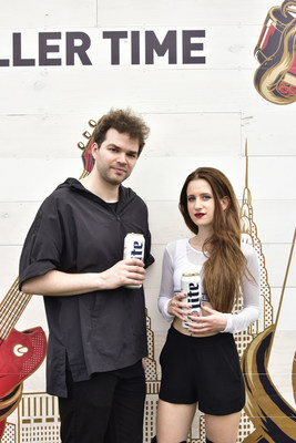Songwriting duo Marian Hill celebrates with fans and games at the Miller Lite Beer Hall, created by MAC Presents, at Governor's Ball on Saturday, June 4, 2016 in New York City. Photo Source: MAC Presents