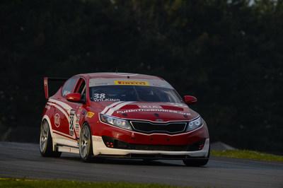 Kia Racing scores podium performances at Mid-Ohio Sports Car Course doubleheader. (PRNewsFoto/Kia Motors America)