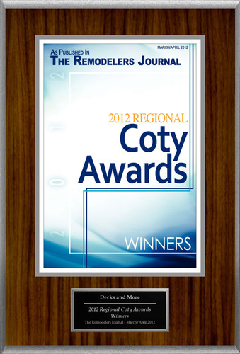 "Decks and More Selected For ""2012 Regional Coty Awards.""  (PRNewsFoto/Decks and More)"
