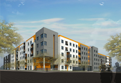 Rendering of Avid Square, EdR's new off-campus development adjacent to Oklahoma State University.