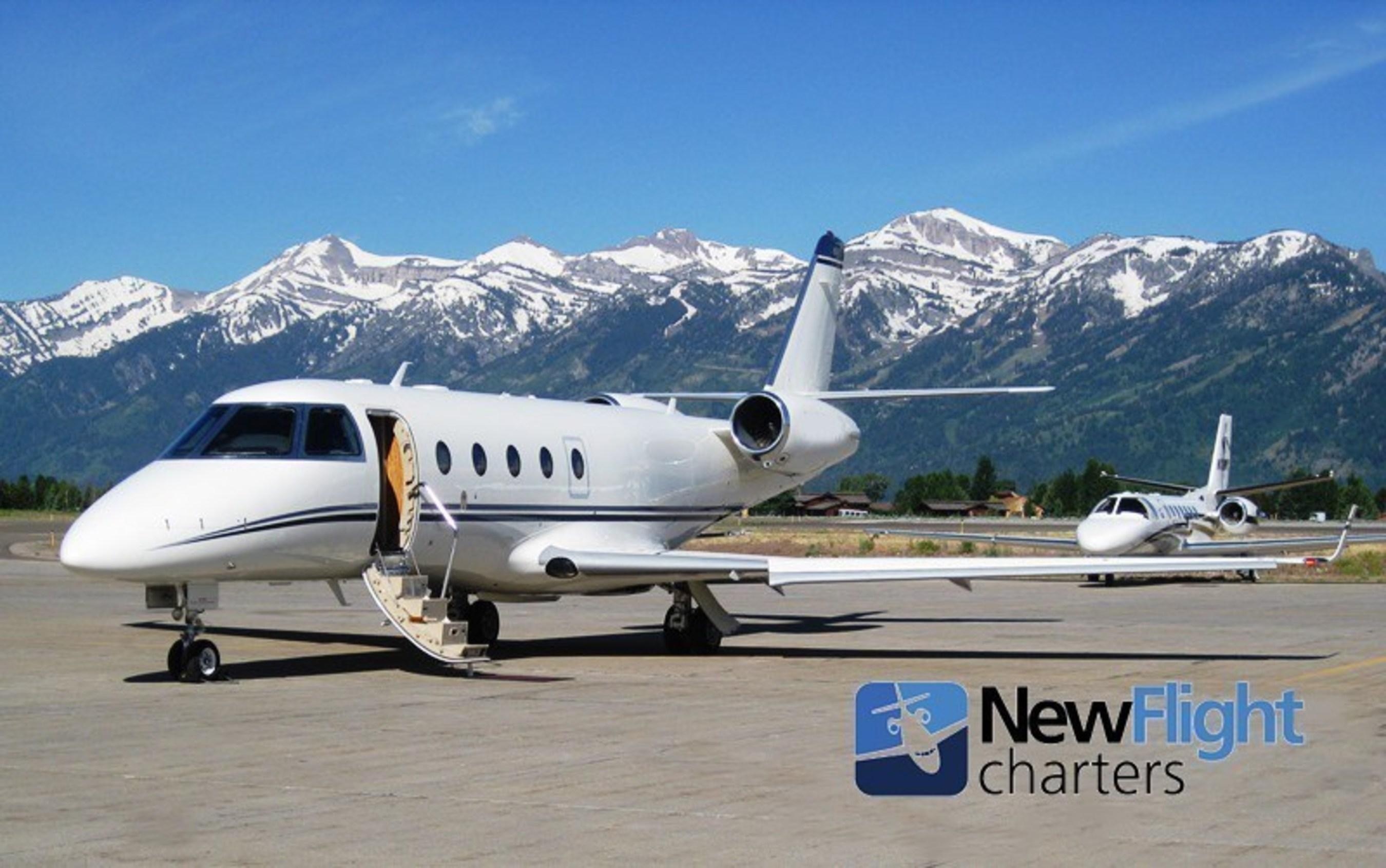 New Flight Charters Private Jet Awating Passengers