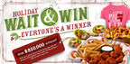 "Shane's Rib Shack launches its 5th Annual Holiday ""Wait & Win"" Campaign! Over $850,000 in prizes! Everyone's a winner!"