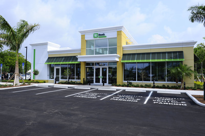 TD Bank, America's Most Convenient Bank(R), announced today that after the first full year of monitoring, its net-zero bank has achieved net-zero energy operations and contributed excess energy back to the energy grid in Ft. Lauderdale, Florida. TD Bank's net-zero energy store was the first net-zero energy bank built in the United States.  (PRNewsFoto/TD Bank)