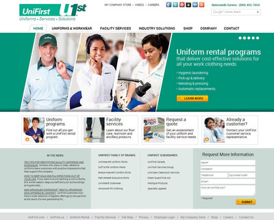 The new UniFirst home page. (PRNewsFoto/UniFirst)