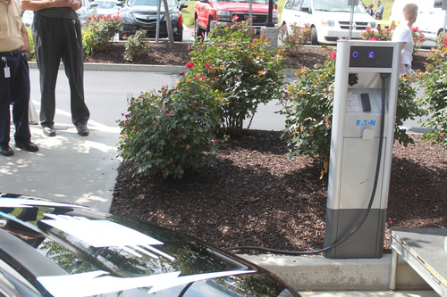 Eaton Level II EV charging station unveiled at CONSOL Energy headquarters in Canonsburg, PA.  ...