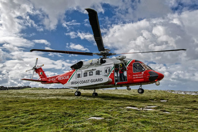 For the first time since it was set up in 1991, the Irish Coast Guard's helicopter service has completed 1,000 missions in a single year. [Photo credit: CHC Helicopter Services]
