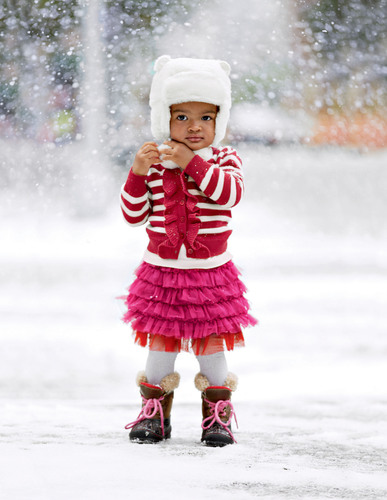Gap's holiday collection also features indulgences for the little ones. At babyGap, girls will look stylish  ...