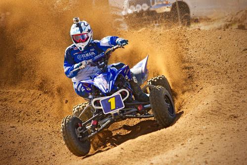Yamaha's Dustin Nelson wears a GoPro HD HERO at 2011 QuadX Series Finale.  (PRNewsFoto/Yamaha Motor Corp., U.S.A.)
