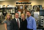 "Kathy Scott, CFO; Preston ""Cinco"" Plumb, CEO; Jackie Townsend, CMO and Fred Hill, VP of Auction Services.  (PRNewsFoto/BioSurplus)"