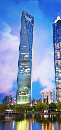 Shanghai World Finance Center.  (PRNewsFoto/Novelis Inc.)