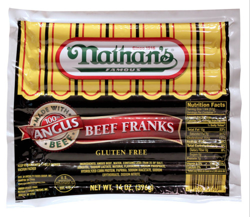 Nathan's Famous introduces new Angus Beef Franks.  (PRNewsFoto/Nathan's Famous Hot Dogs)