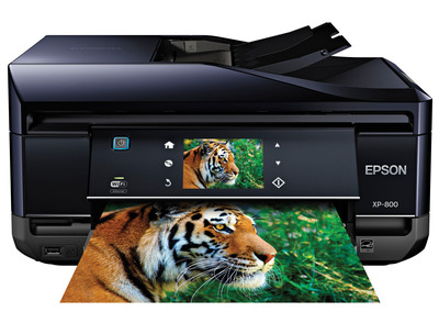 The EPSON Expression Premium XP-800 Small-in-One is designed for families and technology enthusiasts, delivering superior performance, brilliant photos and crisp, sharp text, with the added convenience of EPSON Connect mobile printing solutions.  (PRNewsFoto/Epson America, Inc.)