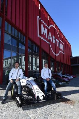 MARTINI launches the 2016 race season with Williams Martini Racing F1 drivers Felipe Massa and Valtteri Bottas. (PRNewsFoto/MARTINI)