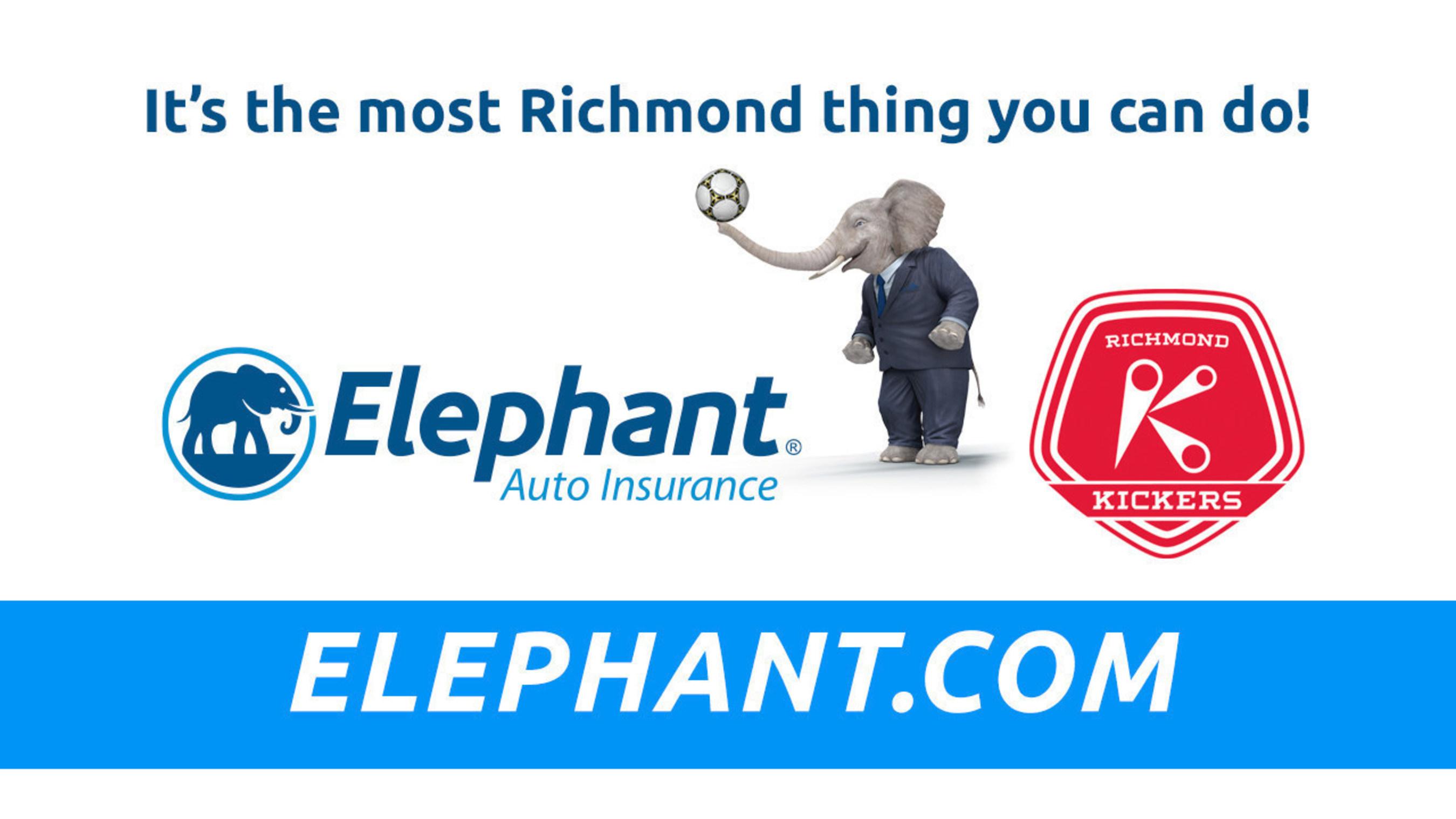 Elephant Auto Insurance partners with the Richmond Kickers