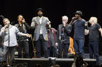 September 18, 2014: A world record for kazoo playing is set at Madison Square Garden by JD & The Straight Shot. Special guests Henrik Lundvist, Amar'e Stoudemire, John McEnroe, Carmelo Anthony and Joe Walsh join Jim Dolan on stage. (PRNewsFoto/JD & The Straight Shot)